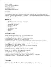 Resume Templates: Claims Adjuster Trainee