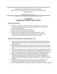 Janitor Resume Sample Custodian Objective Lines For Resumeresume
