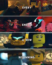 "⚪[ ""every end is a new beginning"" ] #quote ⚪#LEGONinjago #Ninjago ⚪S7: Hands  Of Time ⚪Lloyd Garmadon and Nya Smith ⚪My edit.…   Lego ninjago, Ninjago,  Ninjago memes"