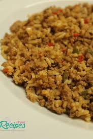 homemade southern style dirty rice with ground turkey seasoned with onions peppers garlic and cajun seasoning