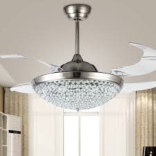 bright design ceiling fan with crystal chandelier 8
