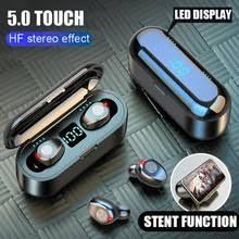 <b>Olaf Bluetooth 5.0</b> Wireless <b>Headphones Earphones</b> F9 TWS ...
