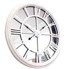 mirrored clock clocks mirror wall clock large oversized square art decoration