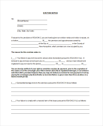 Free Eviction Notices Templates Sample Eviction Notice Virginia Download Them Or Print
