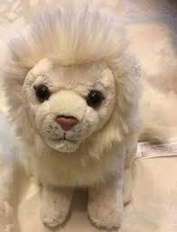 rare fao schwarz toys r us baby lion plush stuffed toy cream white htf