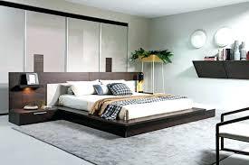 Low Bed Frames King Profile Metal Platform Frame With Storage White ...