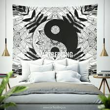 boho wall art bohemian tapestry yang black white mandala wall art print wall decor free boho