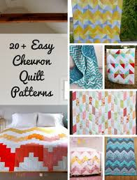 Chevron Quilt Pattern Delectable 48 Easy Chevron Quilt Patterns FaveQuilts
