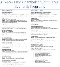 Event Programs Chamber Events Greater Enid Chamber Of Commerce