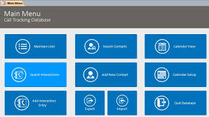 Access 2013 Templates Microsoft Access Call Log Interaction Tracking Database Template