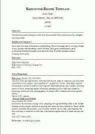 Stunning How To Put Babysitting On A Resume 98 For Your Good Resume  Objectives With How