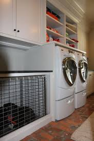 Built In Dog Cage In Laundry Room