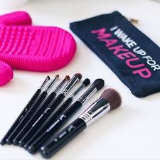 double tap if you wake up for makeup got our spa glove for easy brush cleaning