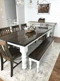 modern farmhouse dining table photo 1 of 9 farmhouse table with bench and chairs 1 custom modern farmhouse dining table