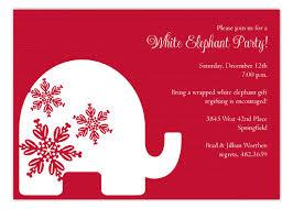 white elephant gift invitation. Fine Elephant Red Background Trendy White Elephant Invitations With Gift Invitation H