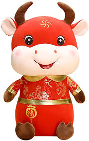 Chinese new year begins on the date (in china) of the second new moon after the winter solstice, which takes place in late december. Amazon Com 2021 Chinese New Year Ox Plush Toy Zodiac Mascot Party Decoration Gift 10 Toys Games