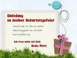 Einladung Zum Geburtstag Text Kostenlos Geburtstag Zum