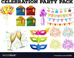 Design Pack Gifts Celebration Party Pack With Gifts And Firework