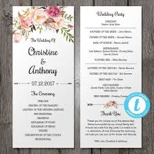 Free Microsoft Word Wedding Program Template Wedding Program Templates Business Mentor