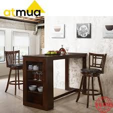 Atmua Atlas Bar Table 2 Vios Bar Chair Modern Design Full Rubber Wood