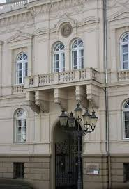 classic architectural buildings. BalconyBalcony On The Town Hall Building In Iserlohn, Ger. Asio Otus Classic Architectural Buildings