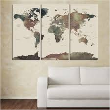 free large world map for wall free