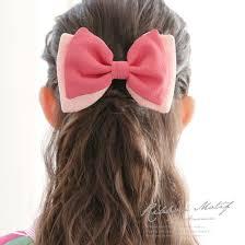 髪飾り 桃色 ピンク リボン 縮緬 ちりめん シンプル コーム 髪留め 成人
