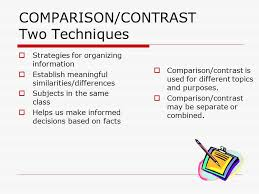 comparison contrast definitions to compare is to show 2 comparison contrast definitions