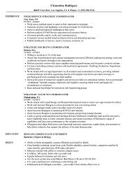 Strategic Coordinator Resume Samples Velvet Jobs