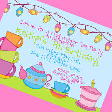 beautiful printable mad hatter tea party invitations features enchanting tea party invitation dress code wording