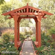 Small Picture How to Build a Timber Frame Garden Arbor Family Handyman