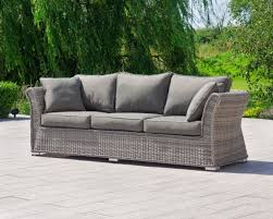 lisbon 3 seat rattan garden sofa in