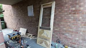 pallet wood door and frame