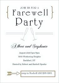 Free Farewell Card Template Enchanting Free Invitation Cards Amazing Invitation Card Templates For Farewell