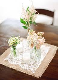 Table Decorations Using Mason Jars Burlap Wedding Centerpieces Mason Jar Centerpieces With Burlap 74
