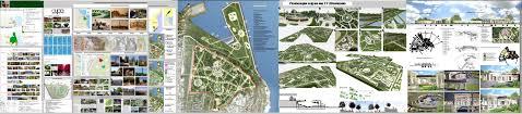 Фрилансер Екатерина Белоусова архитектурные проекты визуализация  Дипломная работа Реновация парка Архитектурные проекты