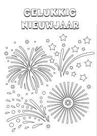 Kleurplaat Gelukkig Nieuwjaar Templates For Art Nieuwjaar