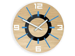 large wood wall clock oak 13 19inch