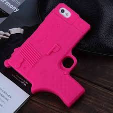 iphone 5s cases for girls. raytop cool gun shaped soft silicone cases for apple iphone 5 5s back cover hot pink iphone girls e