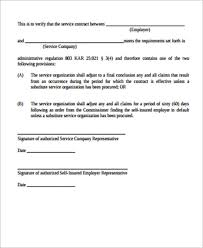 Basic Service Agreement Template 15 Simple Service Contract Samples