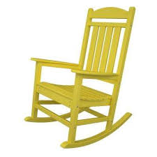South Beach Lemon All-Weather Plastic Outdoor Dining Chair