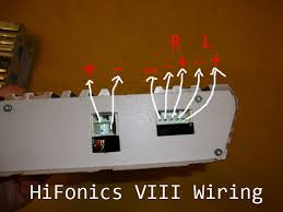 hifonics viii plugs car audio diymobileaudio com car stereo the best i can tell by my research my diagram is correct and the hifonics manual shows the connections upside down or in reverse