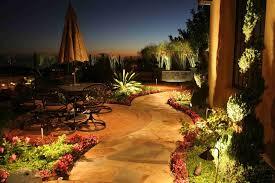 image of malibu landscape lighting plants