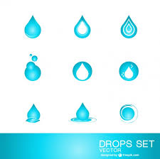 Water Drops Template Water Drop Logo Template Vector Free Download