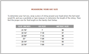 Marques Blog Hat Size Chart