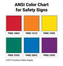 Pantone Brown Color Chart Ansi Safety Colors With Color Chart Creative Safety Supply