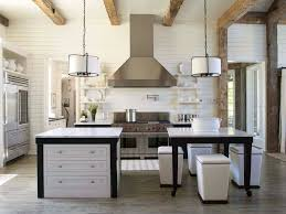 white shiplap kitchen alabama lake house kitchen with white planked walls and ceiling and a