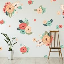 wall art decals flowers