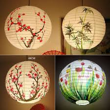 30/35/<b>40 cm Chinese</b> Lamp Shade <b>Paper</b> Lantern Bamboo Plum ...
