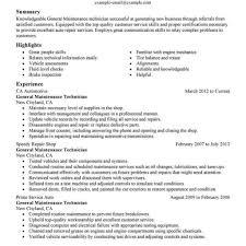 Maintenance Technician Resume Best Of Maintenance Mechanic Resume